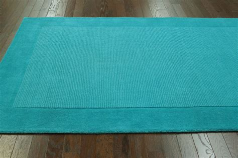 teal striped rug solid striped contemporary teal tu24 area rug carpet tufted wool durable ebay