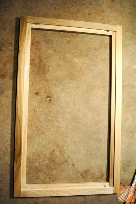 Frame Of Diy Glass Cabinet Doors Kitchen Pinterest How To Build A Glass Cabinet Door