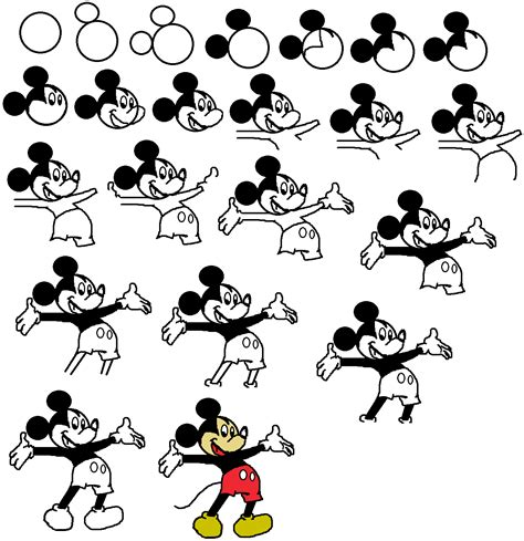 Learn How To Draw Mickey Mouse Step By Step Easy Drawing | how to draw mickey mouse how to draw mickey mouse