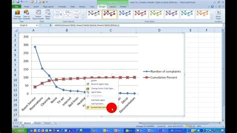 pareto chart template excel 2010 how to create a pareto chart in excel 2010