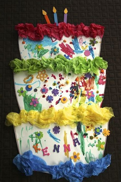 Paper Birthday Cake Craft - 769 best images about anytime play crafts