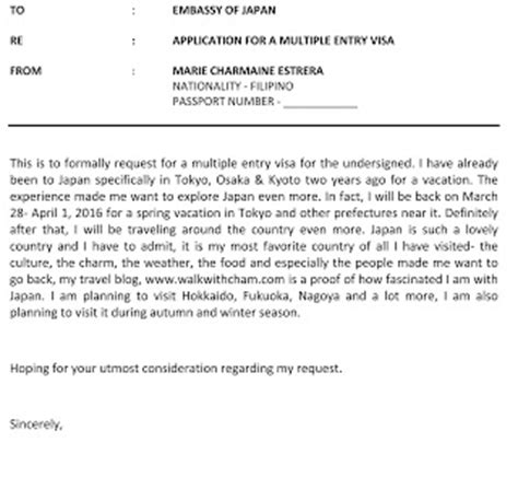 Explanation Letter For Entry Visa Japan Walk With Cham How To Apply A Entry Visa To Japan For Philippine Passport Holders
