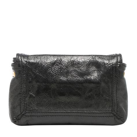 Fendi Clutch Black fendi black patent leather small clutch labelcentric