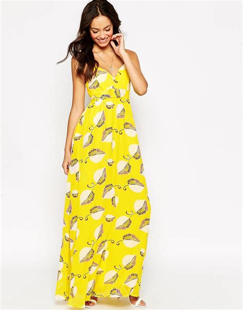 Maxi Flower Leaf Yellow yellow floral maxi dress dress images
