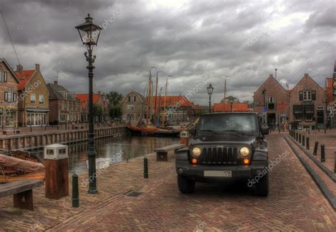 european jeep wrangler jeep wrangler netherlands europe stock editorial