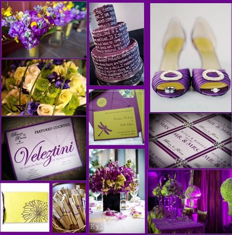 Wedding By Designs Purple And Sparkling Yellow Wedding Ideas Purple And Yellow Wedding Centerpieces