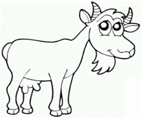 goat coloring pages kindergarten goat coloring pages for kids