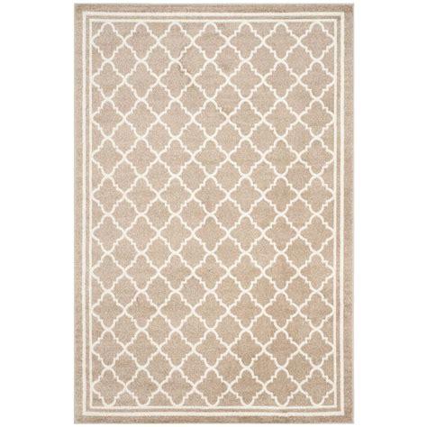 indoor outdoor rugs home depot safavieh amherst light gray beige 5 ft x 8 ft indoor outdoor area rug amt419b 5 the home depot