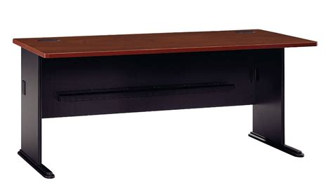 series a hansen cherry 72 inch desk from bush wc94472
