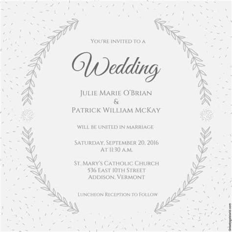 Wedding Invitations Templates Word by Wedding Invitation Template 74 Free Printable Word Pdf