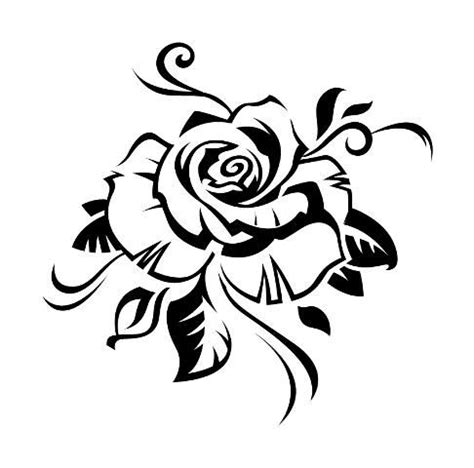 tatouage fleur tribal rose tattoo designs black rose