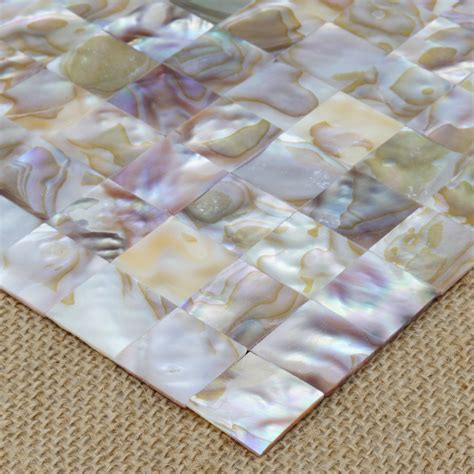 Kitchen Backsplash Tiles Peel And Stick by Mother Of Pearl Backsplash Wall Tiles 12 Quot X 12 Quot Natural