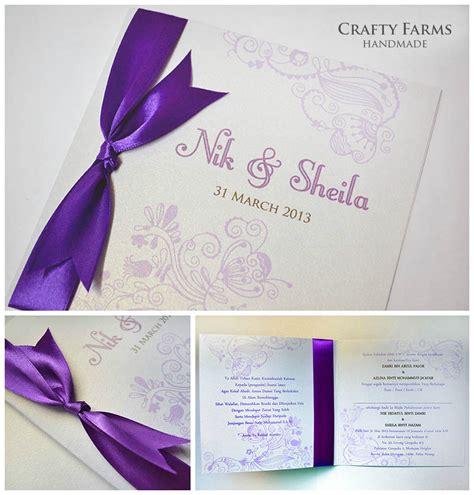 Handmade Wedding Invitation Cards - wedding card malaysia crafty farms handmade batik