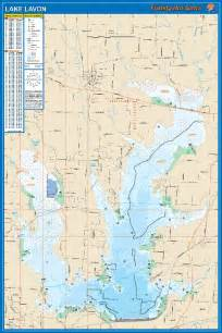 lavon fishing map lake