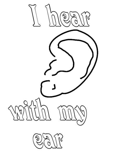 coloring page for ear ear free coloring pages on art coloring pages