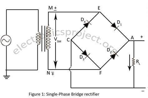 diode bridge protection circuit single phase bridge rectifier electronics project