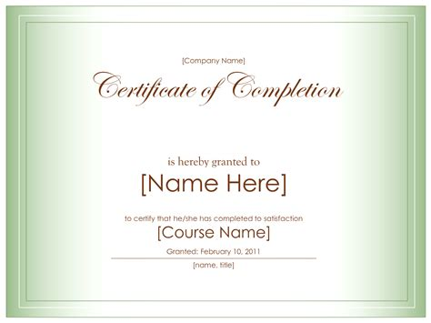 10 Best Images Of Certificate Completion Template Blank Free Via Certificates Templates Free Blank Certificate Of Completion Template Word