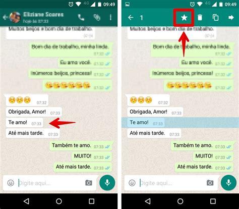 no guardar imagenes whatsapp android whatsapp libera mensagens favoritas veja como usar