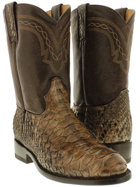 mens python boots mens real brown python snake skin genuine leather cowboy