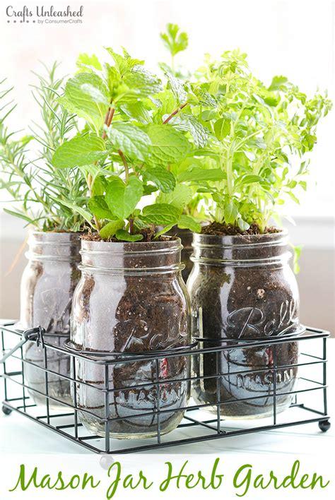 mason jar indoor herb garden  created