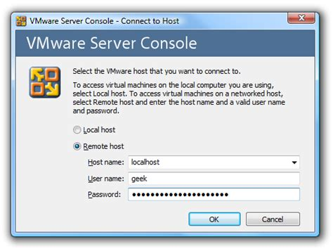 vmware console connect to vmware server console ssh
