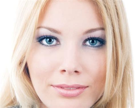 makeup for blue eyes and blonde hair dark brown hairs pictures of different blue eye looks slideshow