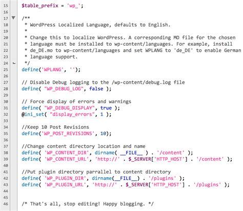 wp config 10 wp config tweaks to improve your wordpress site wpmu dev