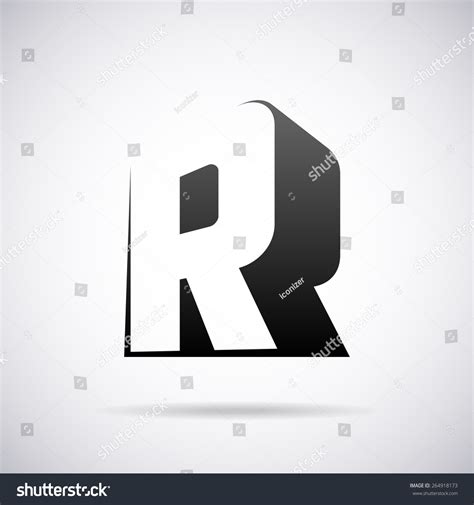 vector logo letter r design template stock vector 264918173