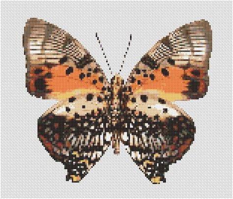 butterfly pattern in c counted cross stitch pattern butterfly moth orange brown