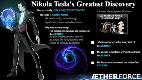 tesla believed that electricity and the aether were one