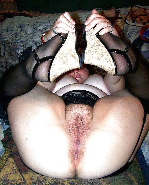 Hairy Bbw Amateur S Spreading In Stockings 02 30 Pics