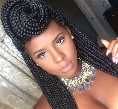 pictures od ling box braids in a bun 50 exquisite box braids hairstyles to do yourself