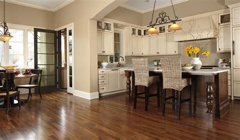 Hardwood Kitchen Floor by
