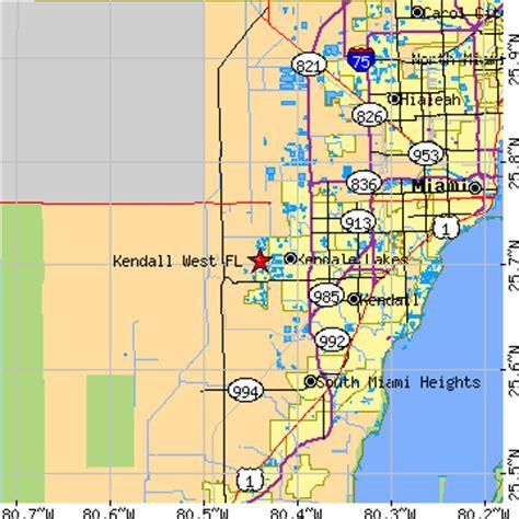 zip code map kendall florida kendall west florida fl population data races
