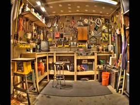 ideas for modern workshop garage interior design trend pics photos garage workbench with the top folded down