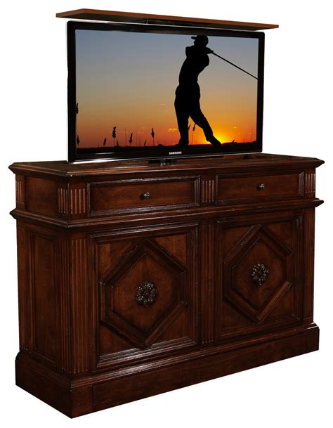 bedroom tv cabinet hidden tv lift cabinet bedroom with beautiful bed board bedroom
