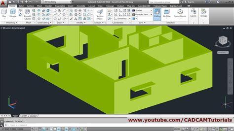 basic autocad tutorial youtube autocad 3d house modeling tutorial beginner basic 1
