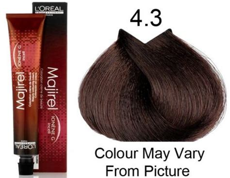 l oreal majirel no 4 3 permanent hair color brown golden reflect 50 ml pack of 3 buy l oreal l oreal professional majirel 4 3 4g permanent hair color 50ml hair and supplier