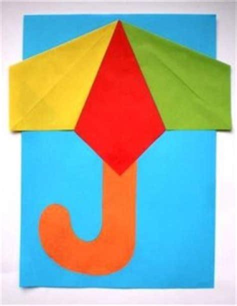 Origami Umbrella Easy - umbrella craft idea for crafts and worksheets for