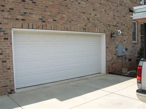 2 door garage 2 car white garage door a plus doors