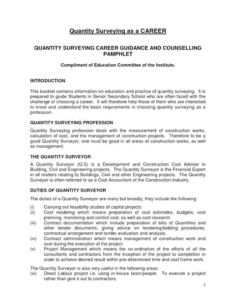 application letter sle quantity surveyor cv cover letter quantity surveyor image collections
