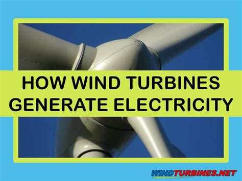 how wind turbines generate electricity