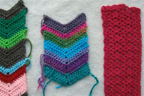 color pattern crochet crochet in color three scarves
