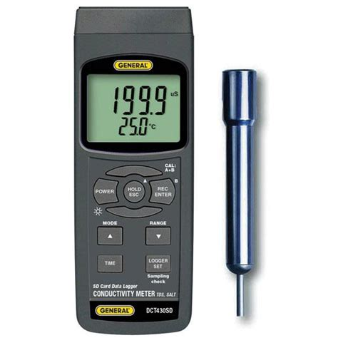 Tds Meter conductivity tds meter with excel formatted data logging