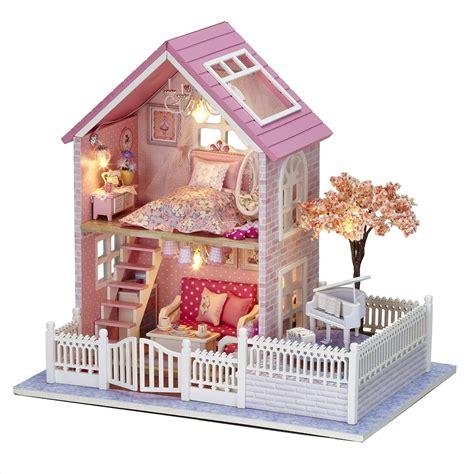 pink dollhouse cuteroom 1 24 diy wooden dollhouse pink cherry handmade