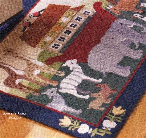 noahs ark rug noah s ark hooked wool rug