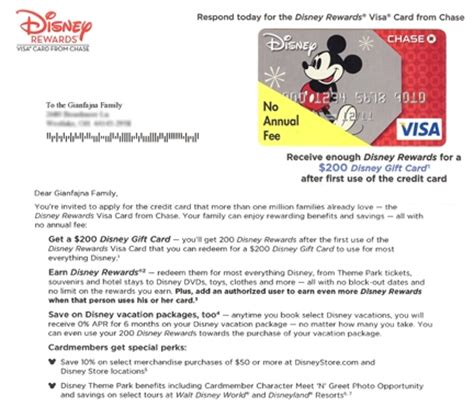 Sle Credit Card Welcome Letter Marketing Disney Logo And Direct Marketing On