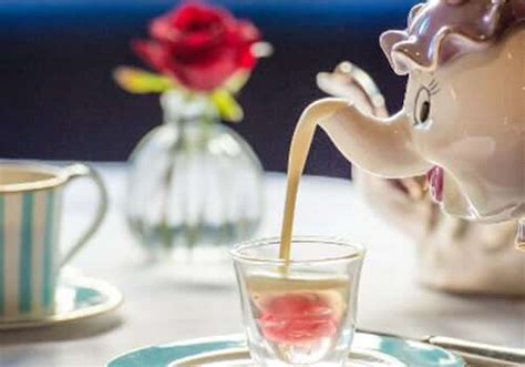 Cocolatte Iconic Petal Grey a quot and the beast quot afternoon tea service to be