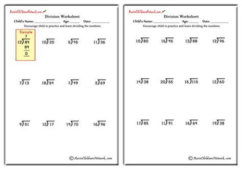 free printable long division worksheets without remainders mixed division worksheets with and without remainders