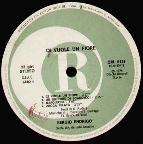 ci vuole un fiore di sergio endrigo sergio endrigo ci vuole un fiore orizzonte vinyl lp orl 8131